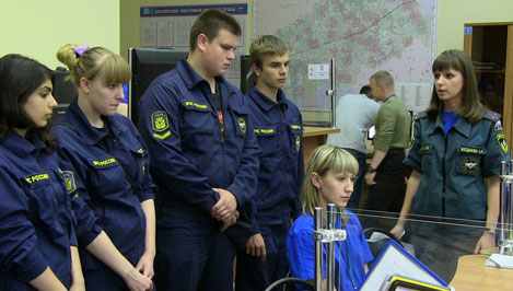 Юные спасатели побывали на практике в Центре управления в кризисных ситуациях ГУ МЧС по Тверской области