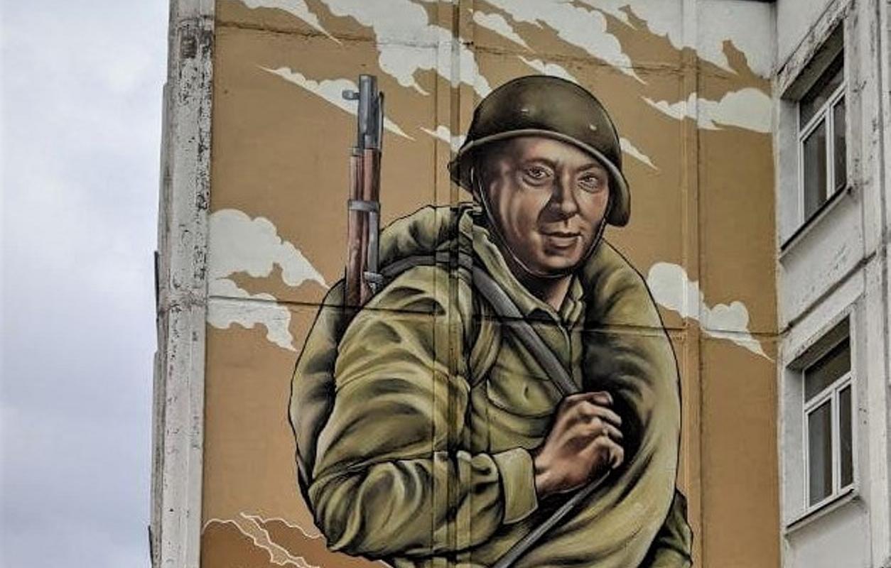 Ко Дню Победы в Твери появился новый стрит-арт  - новости Афанасий