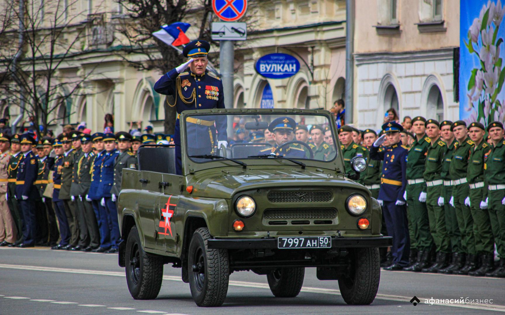 В Твери впервые парад в День Победы прошел на площади Михаила Тверского