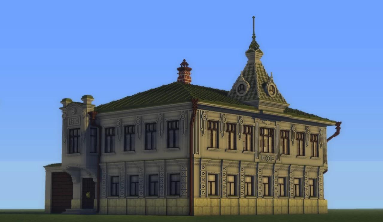 Энтузиасты воссоздают архитектуру города Кимры в Minecraft