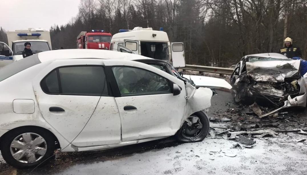 Двое водителей доставлены в больницу после лобового ДТП на трассе М9 в Тверской области - новости Афанасий