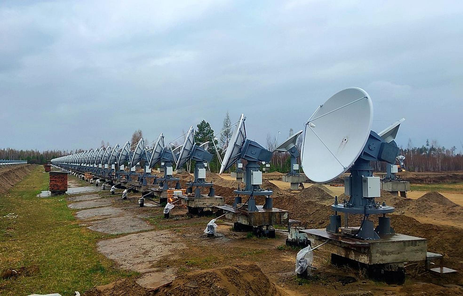528 антенн нового радиогелиографа следят за солнцем в России