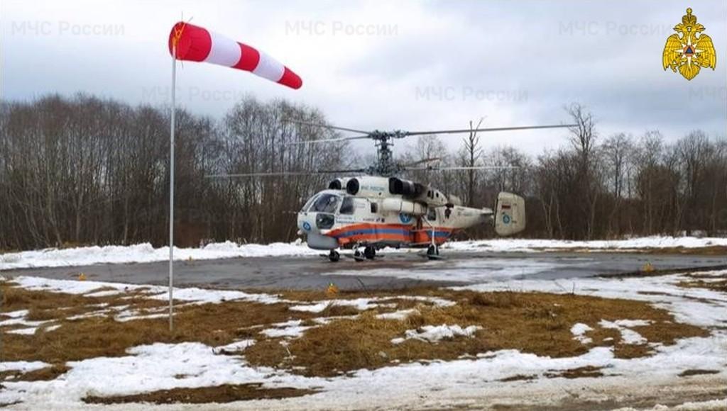 В Тверской области вертолеты МЧС дважды за день вылетали на помощь пациентам