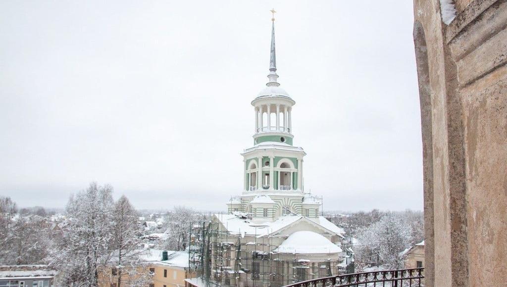 В Торжке Тверской области реставрируют Надвратную колокольню Борисоглебского монастыря - новости Афанасий