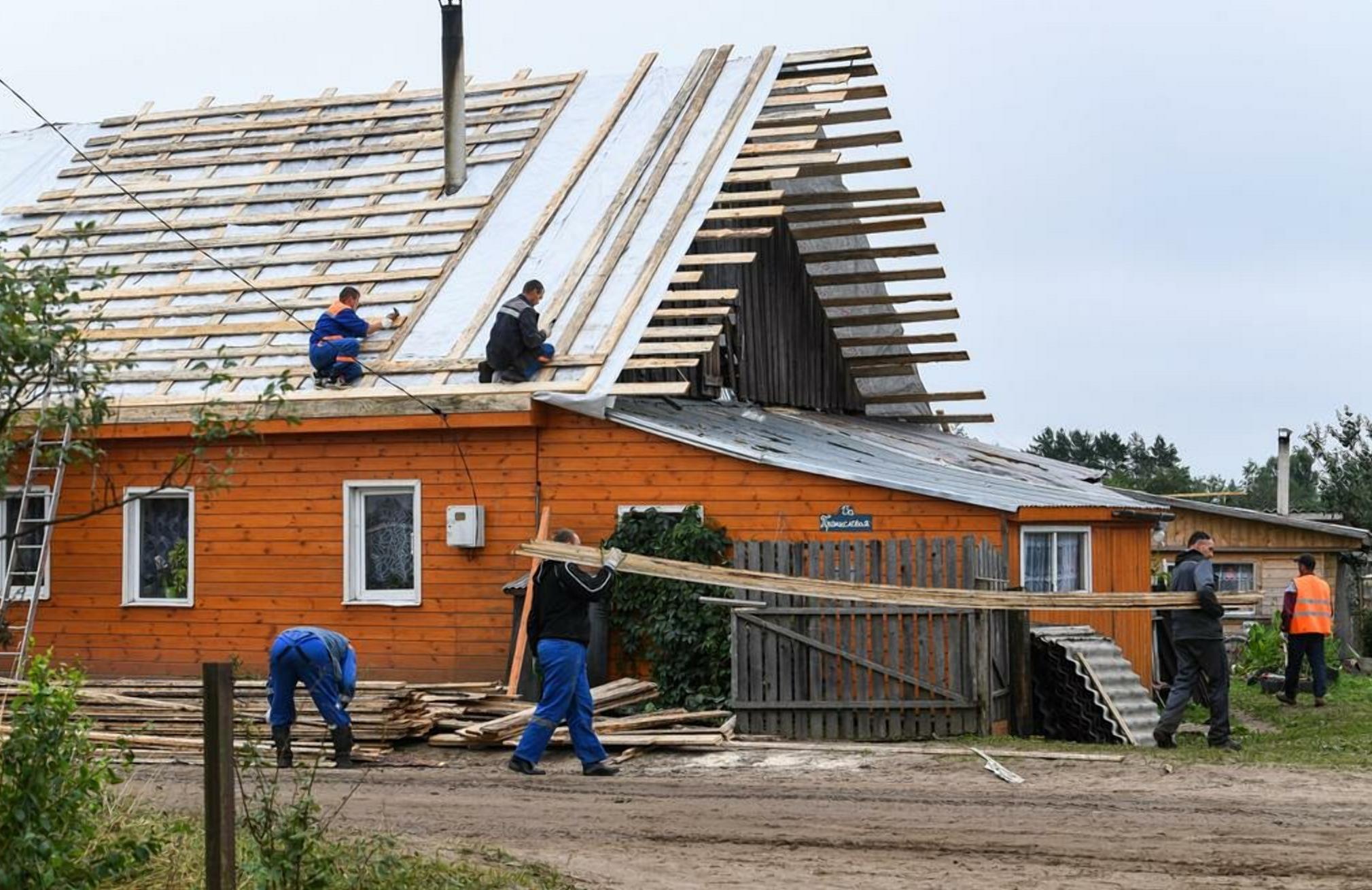 В Андреаполе Тверской области восстановлена часть домов, пострадавших от стихии