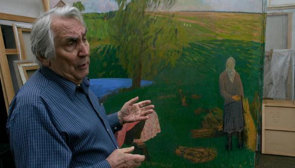Известный российский художник Валентин Сидоров отметил 90-летие на родине - в Тверской области
