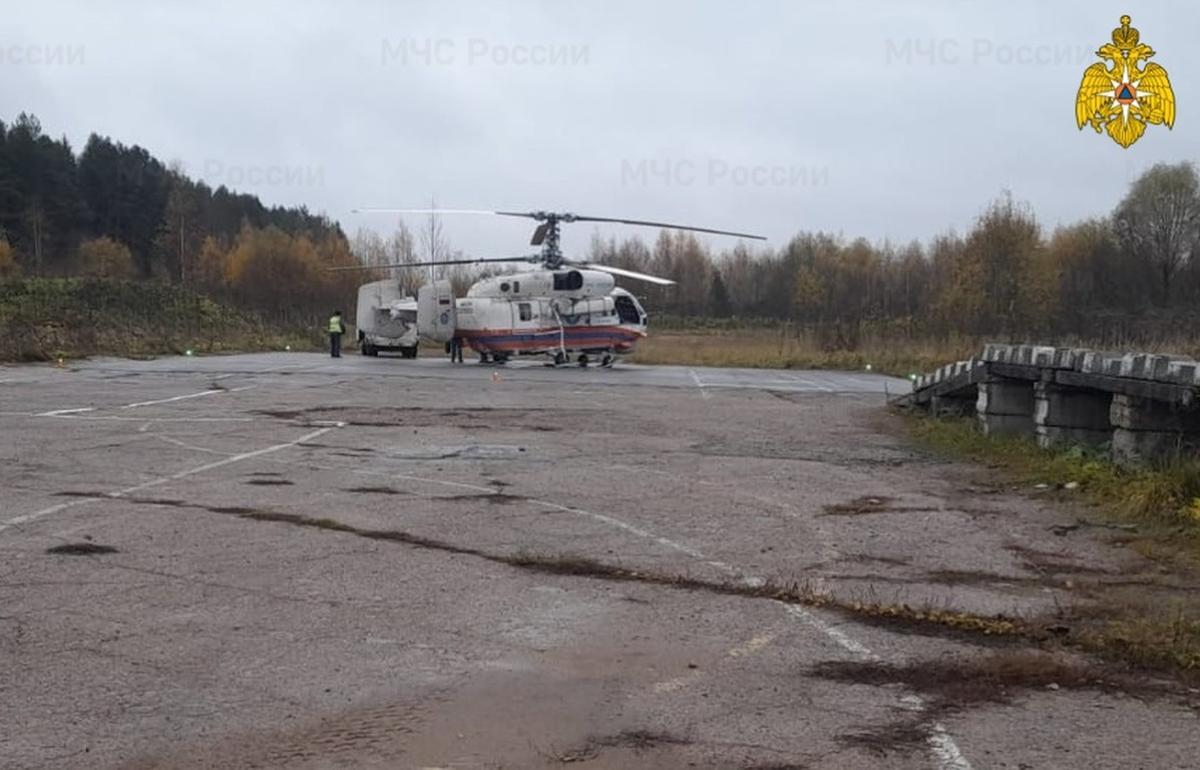 Вертолет МЧС за три часа доставил больного ребенка из Бологое в Тверь - новости Афанасий