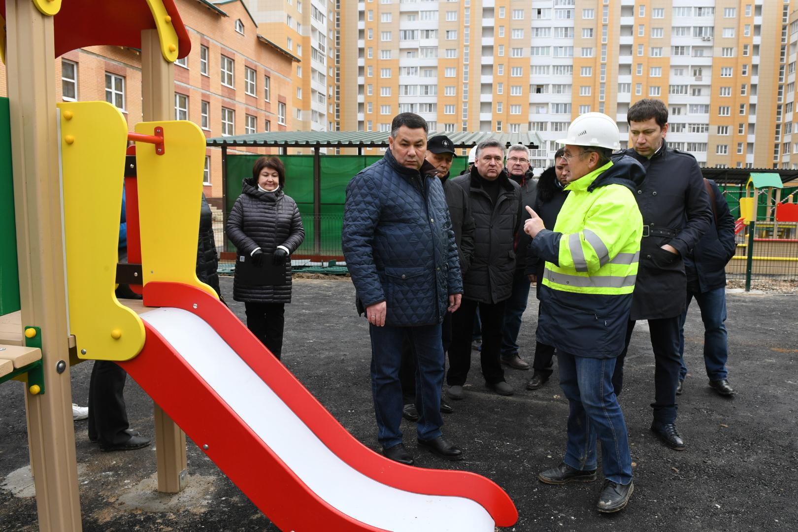 Игорь Руденя проинспектировал строительство детского сада в «Южном»