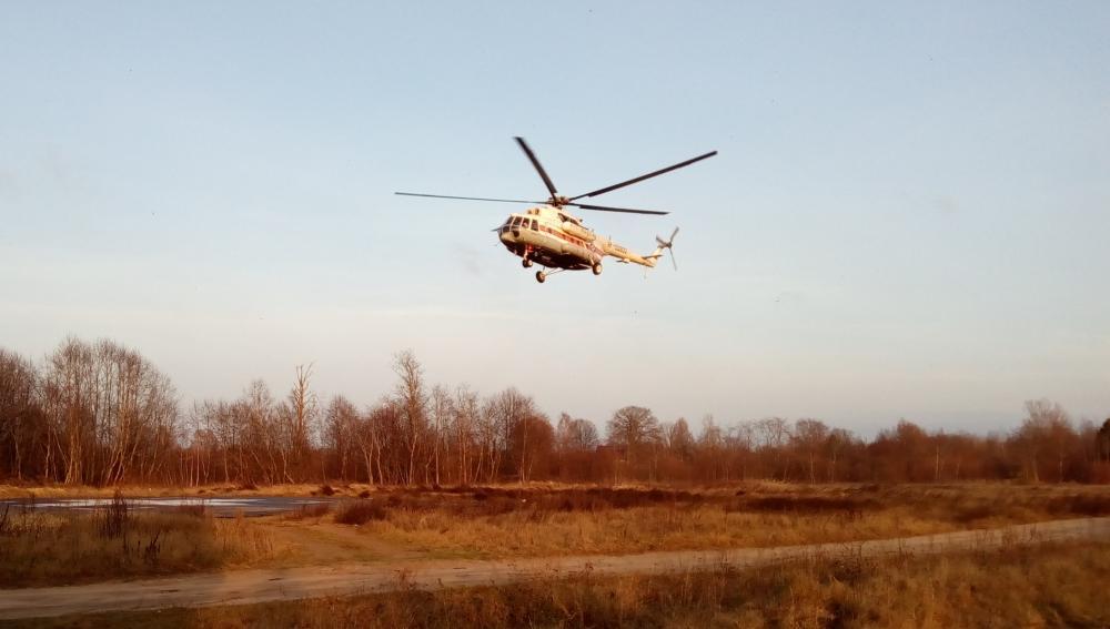 Вертолет МЧС доставил в Тверь пациента районной больницы