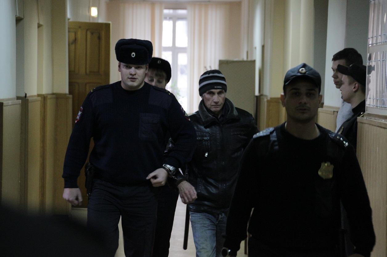 Маньяк Сергей Щербаков в Тверском областном суде, 6 декабря 2018 года