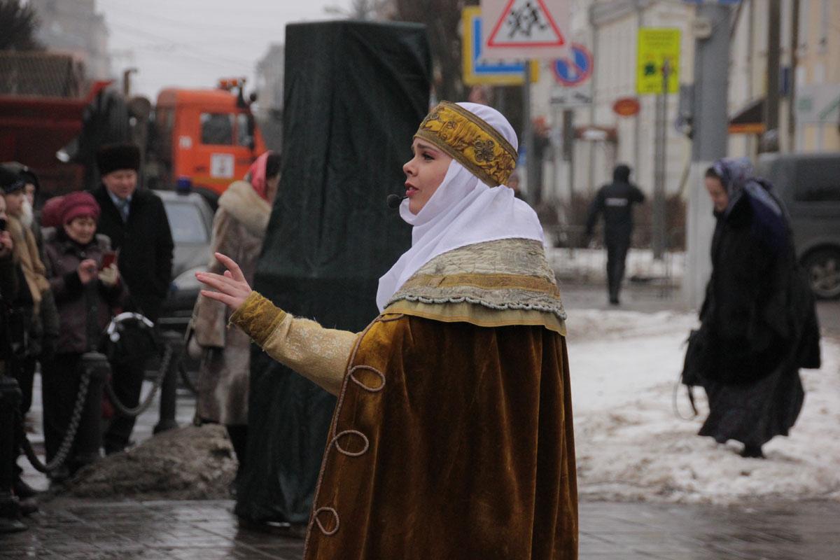 Реконструкторы на площади Михаила Тверского