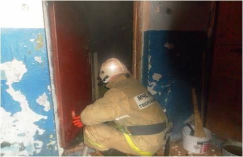 пожар в Андреаполе Тверской области 15 ноября 2018 года