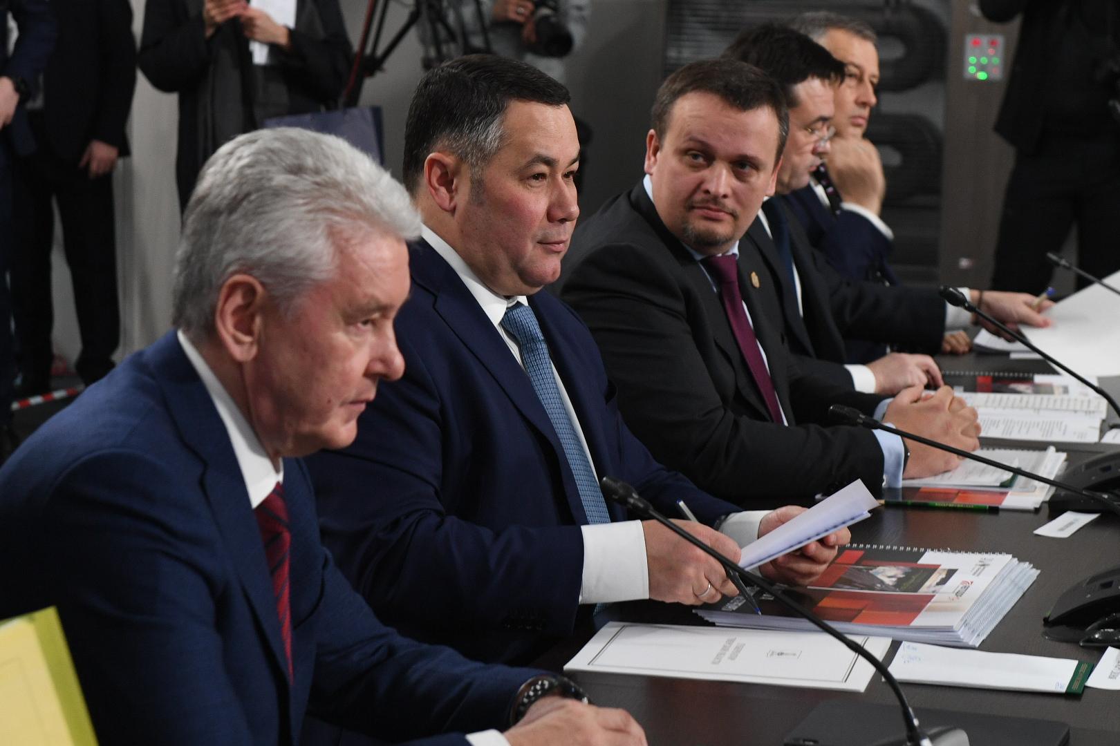 Сергей Собянин, Игорь Руденя